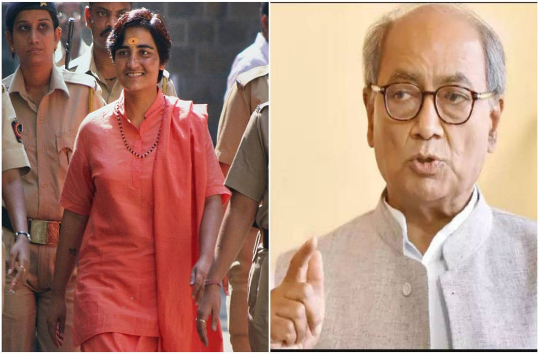 BJP inducts Malegaon blast accused Pragya Thakur, fields her against Digvijay Singh in Bhopal