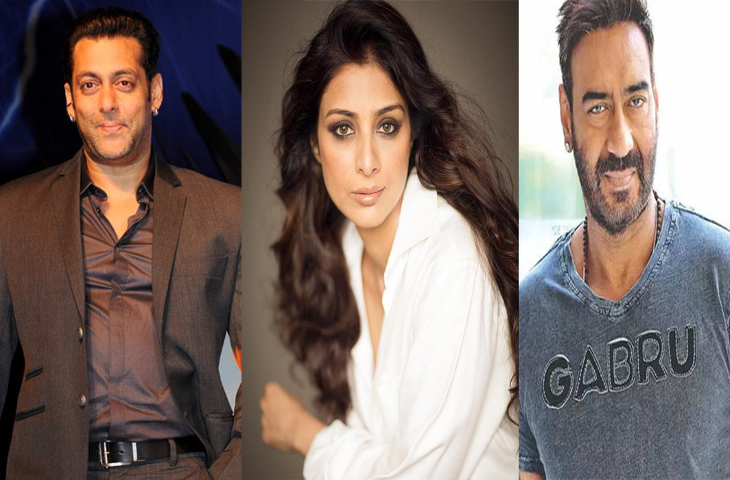 Salman Khan and Ajay Devgn won't let me fall: Tabu