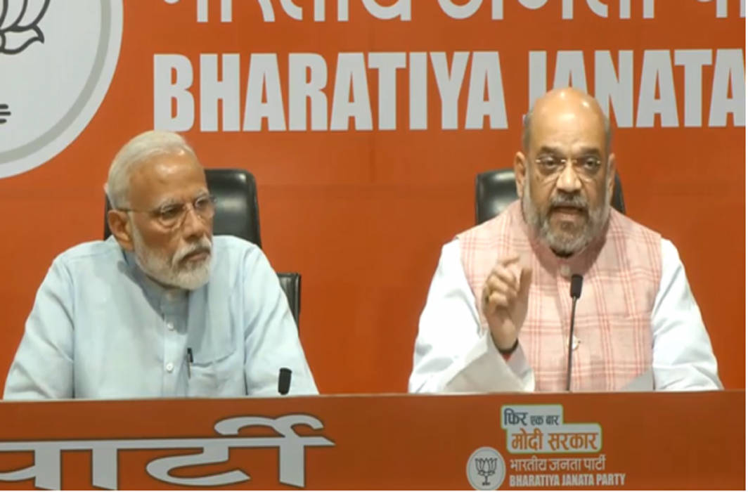 PM Modi addresses his first press conference, leaves questions for BJP chief Amit Shah