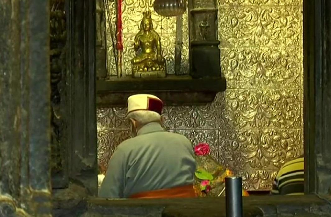 PM Modi offers prayer at Kedarnath Shrine