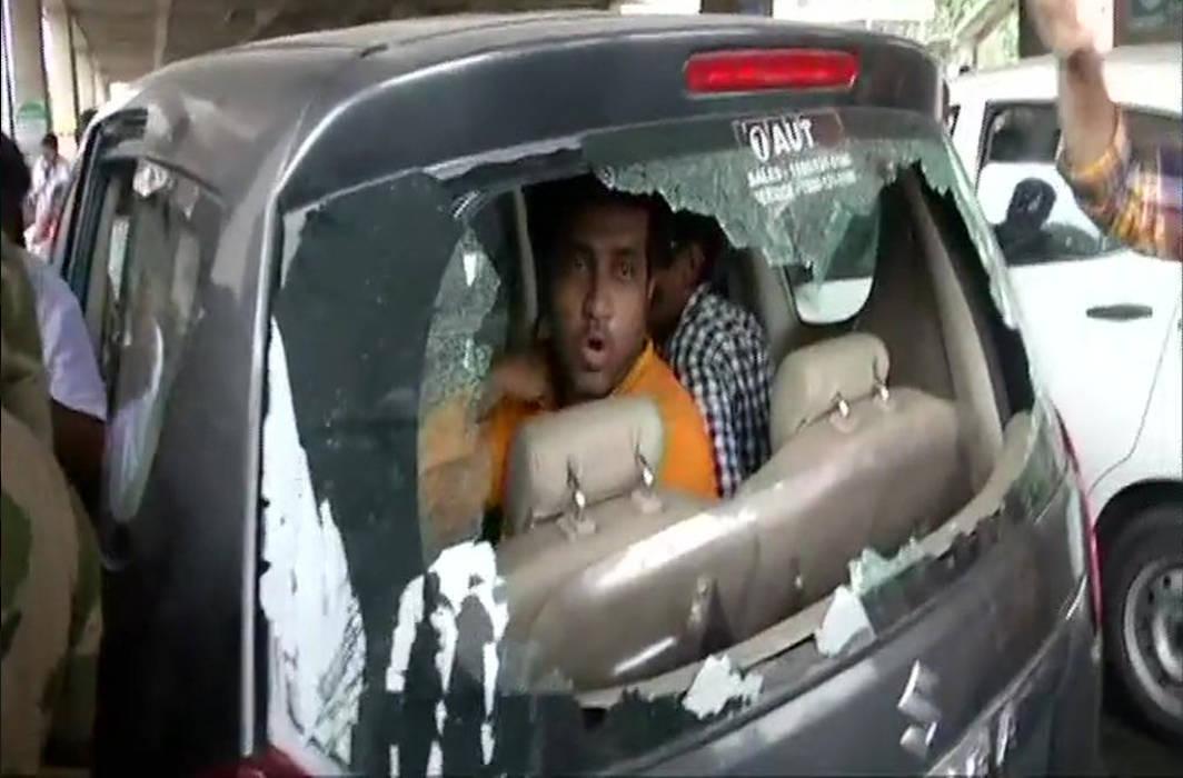 BJP leader Anupam Hazra's car vandalised in poll violence in West Bengal