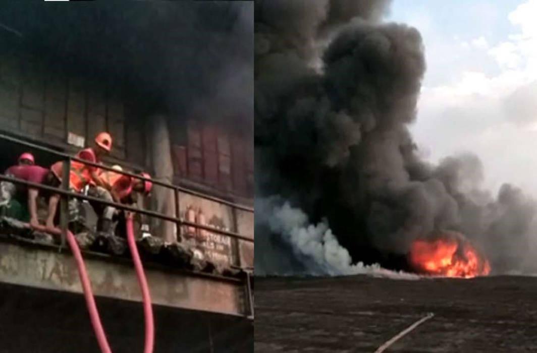 Massive fire breaks out at chemical godown near Kolkata's Howrah Bridge