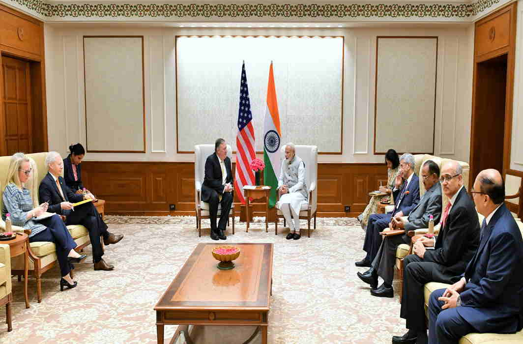 US Secy of State Mike Pompeo meets PM Modi, External Affairs Ministers S Jaishankar