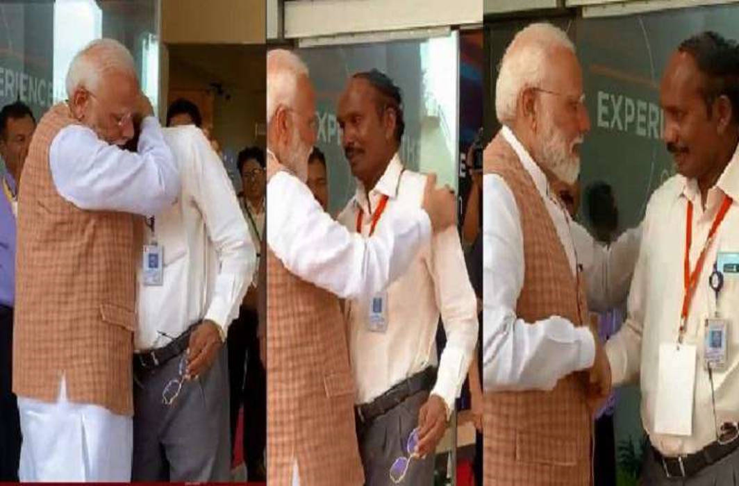 PM Modi consoles emotional ISRO Chief with a warm hug after Vikram contact lost