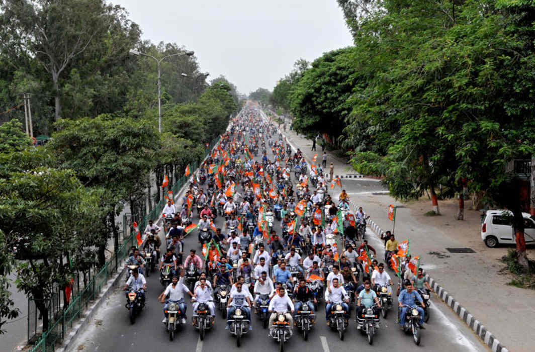 Bike rally flagged off from Delhi for Vadnagar for PM Modi's 69th Birthday Celebration