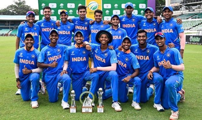 India U19 team.