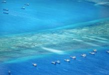 China extending his powers by creating sea platform under water