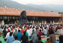 modi will unveil 112 feet tall shiv statue in coimbatore