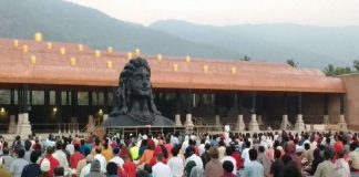 modi will unveil 112 feet tall shiv statue in coimbatore