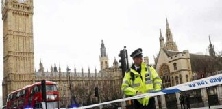 Firing out of British Parliament,Killing 4 people