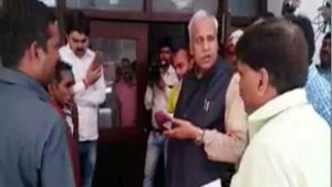 yogis minister has insult a divyang on clean in office