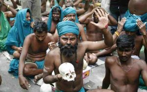 Tamilnadu farmers performed nude in front of PMO