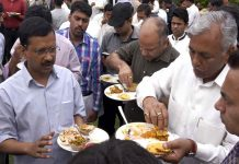 One plate of Kejriwal government's party has 12 thousand rupees.