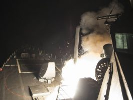 Largest missile attack of america on syrian airbase