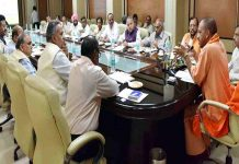 second Cabinet meeting of Yogi Sarkar in UP will be held in Lok Bhavan, Lucknow at 11 am.
