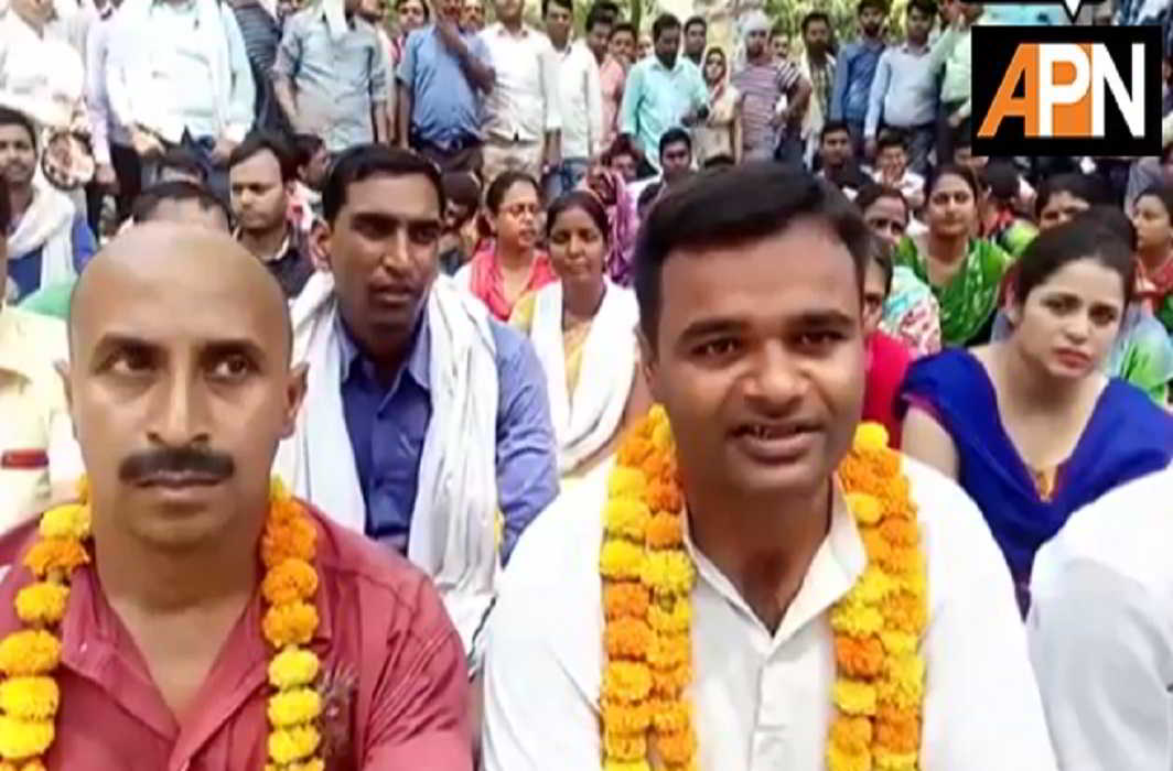 trainee teacher sitting on hunger strike for demand of appointment