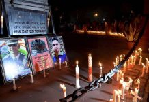 Student of Jawahar Navodaya Vidyalaya showed the fury of his death by taking candle march for Omar Fayaz