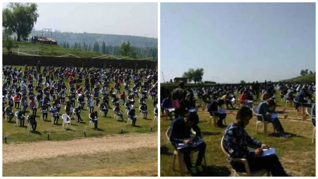 Kashmiri Youths take part in army rally