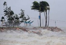 Mura hurricane reached Bangladesh at a speed of 117 km