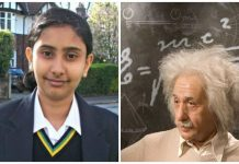 Indian origin daughter Rajgauri overtook Einstein in IQ Test