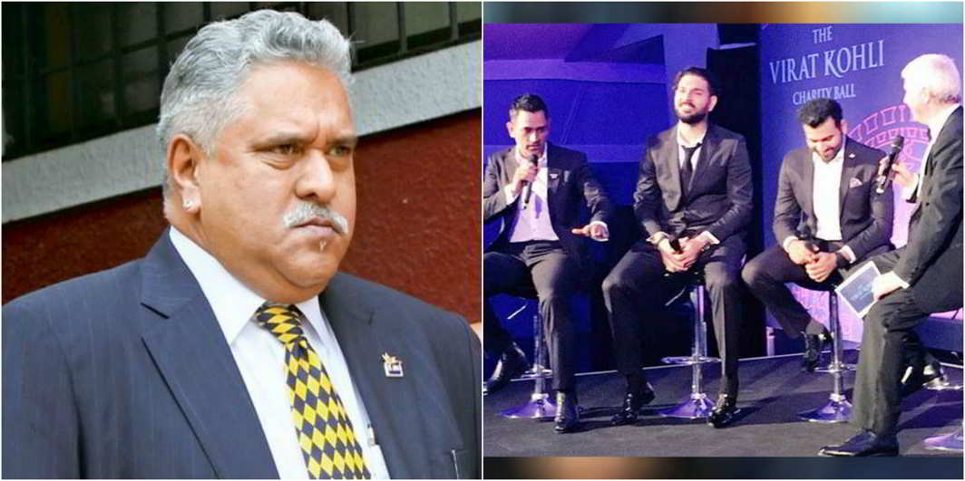 Vijay Mallya reached in Virat's charity dinner party
