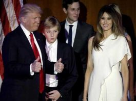 Donald Trump's family shifted to White House