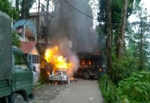 Violent clashes during cabinet meeting in Darjeeling