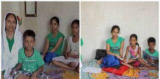 Agra's helpless mother, To teach her children, Bid put to His kidneys