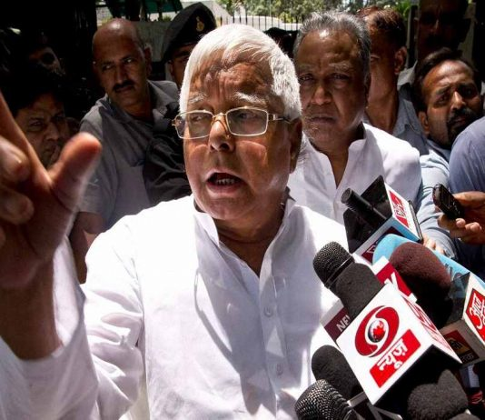 after Appearance in court, lalu said: farmer dying and minister doing yoga