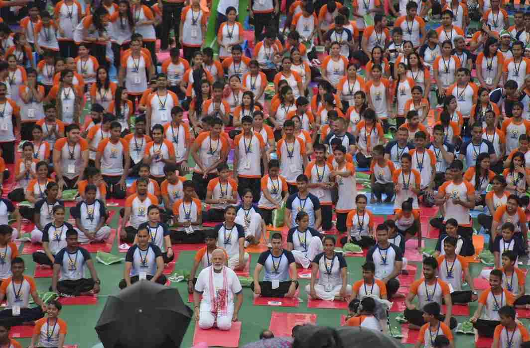 The children who made the yoga have become sick due to the raging in the rain.
