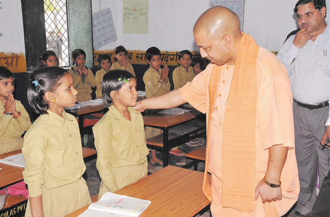 Hapur visits of CM Yogi, school bags and and bags distributed