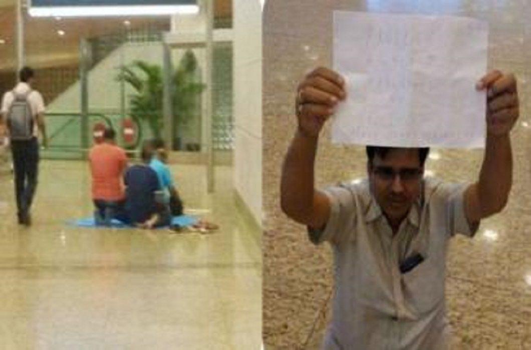 A dispute over namaz on Mumbai International Airport, BJP leader on strike