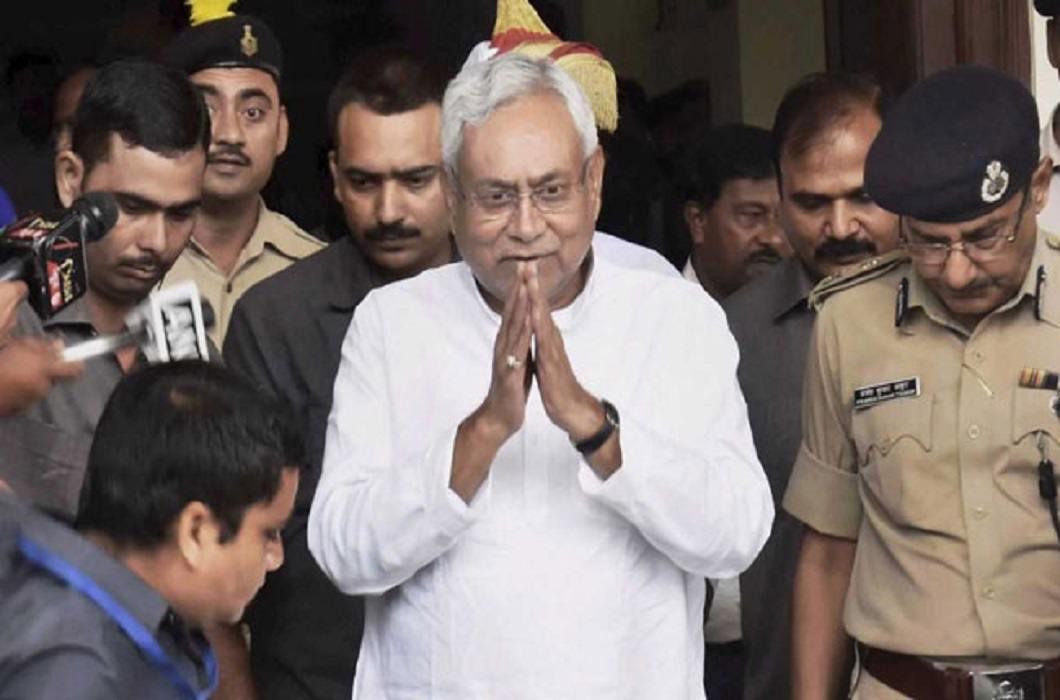 Nitish Kumar Gave Resignation
