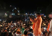 Somebody threw stone at Manoj Tiwari in election rally