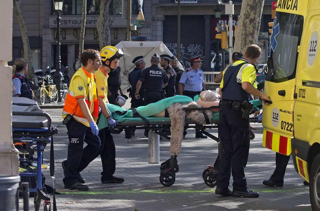 Terrorists attack in Spain,13 killed and more than 100 injured