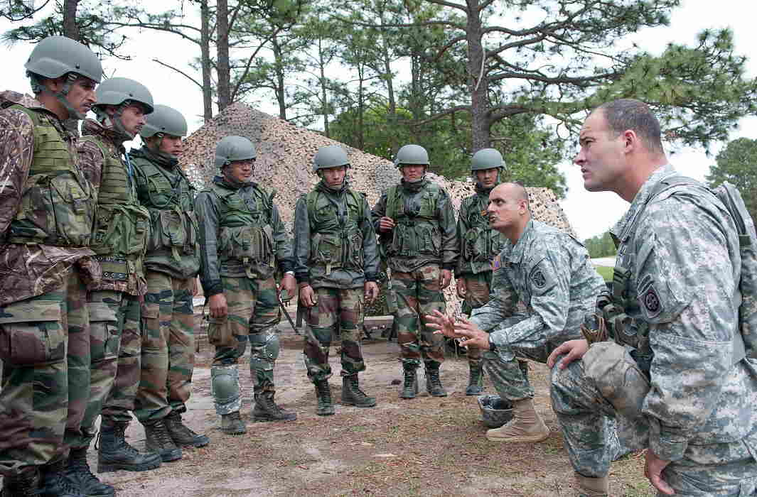 Indian army joint exercise with US army