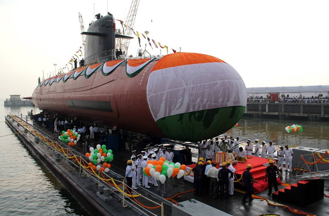 first scorpene class ins kalvari delivered to indian navy