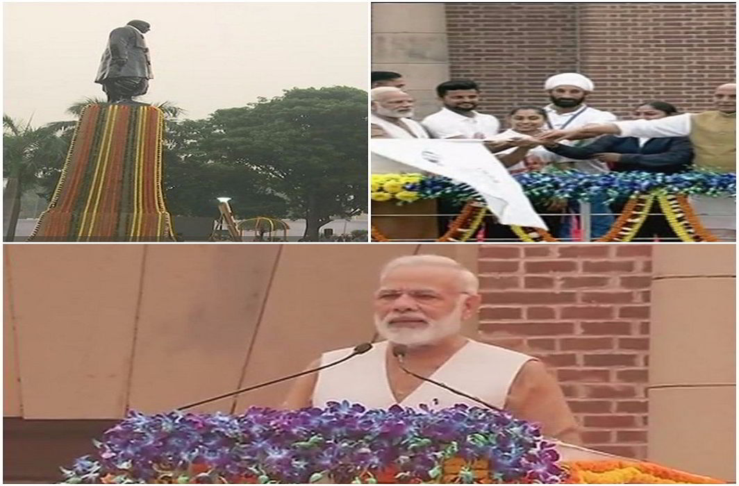 pm Modi flags off 'run for unity' on sardar patel birthday anniversary