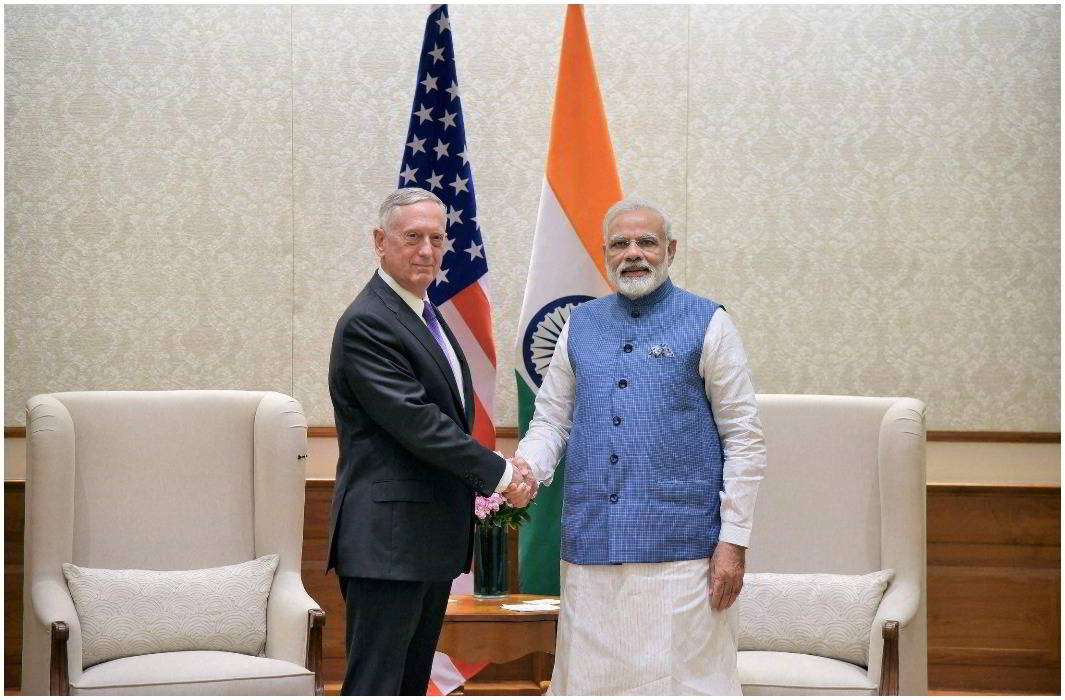 United States of America support with India to protest against One Belt One Road project.