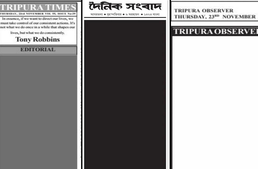 Protest in Tripura