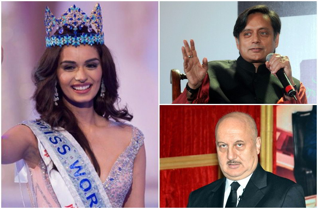Shashi Tharoor has to make fun of Miss World Manushi, Anupam Khaire condemned