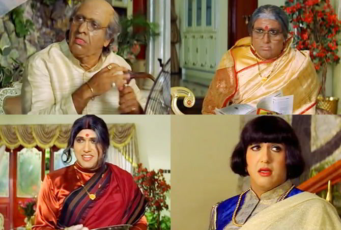 Govinda in different roles