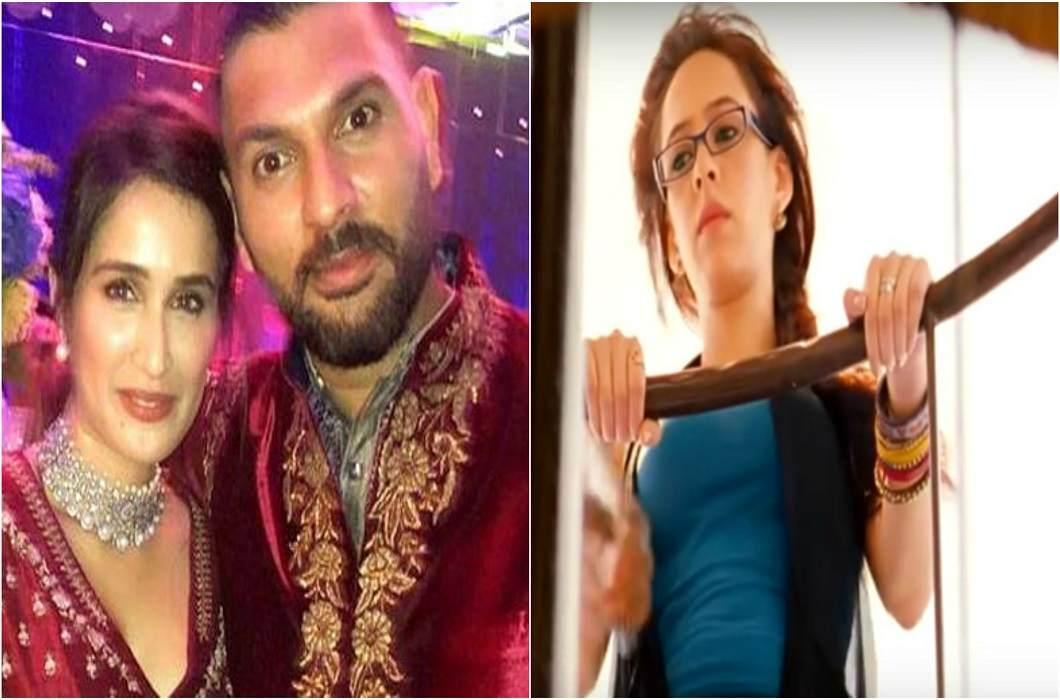yuvraj wife hezal's comment on yuvraj sarika photo