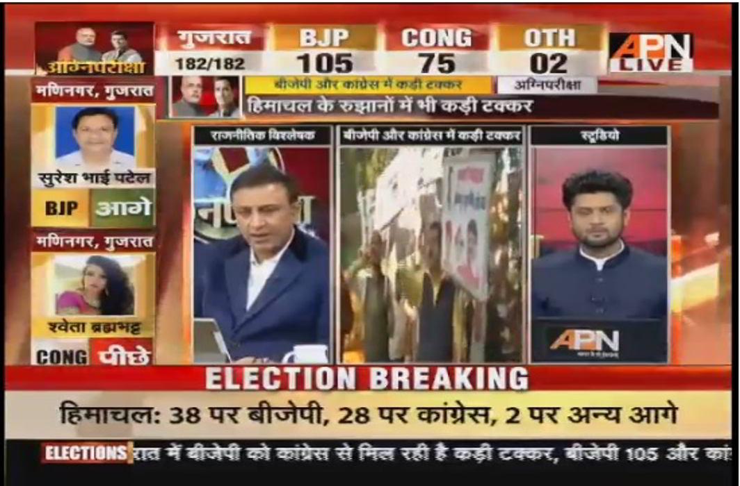 2017 Gujarat legislative assembly election results