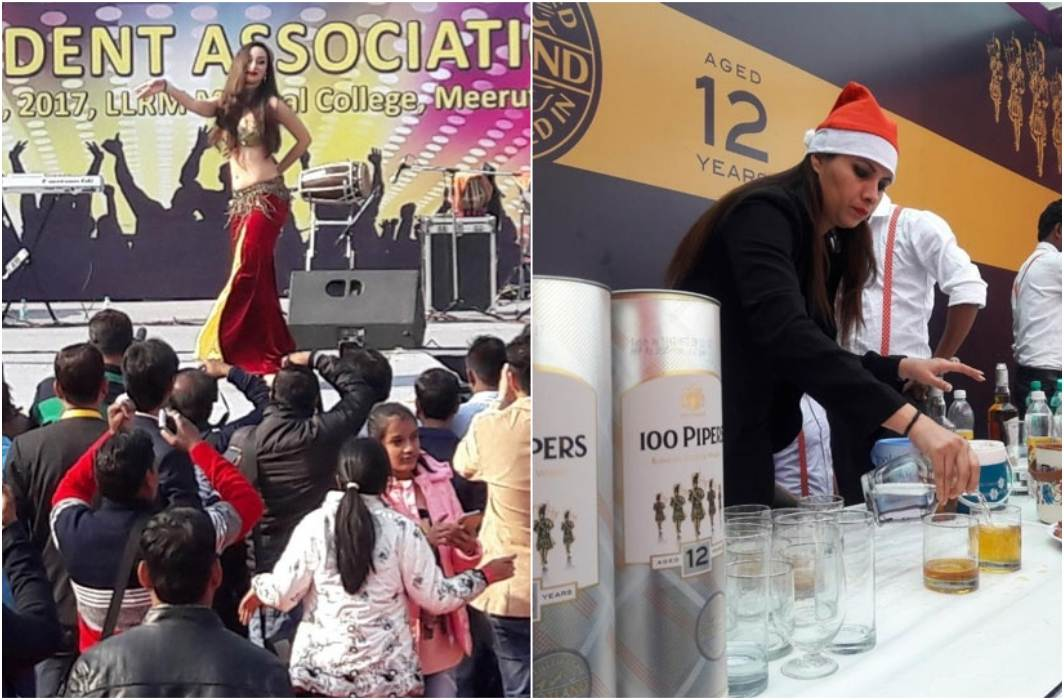 Wine in ambulence in meerut and belly danced performed by russian girls