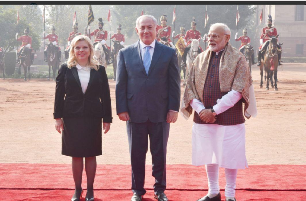 benjamin netanyahu honored with guard of honor