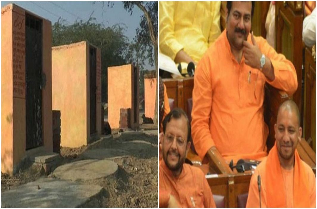 everything has going to be saffron in the UP, From the Secretariat to the toilets.