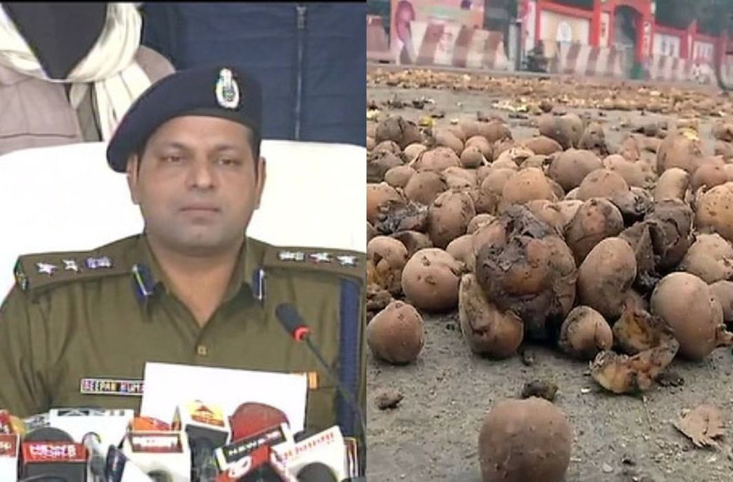 2 accused arrested for throwing potatoes in front of UP Assembly