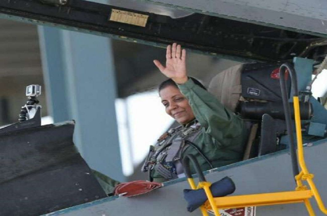 Defense Minister Nirmala Sitharaman Becomes First woman to fly in Sukhoi-30 fighter plane