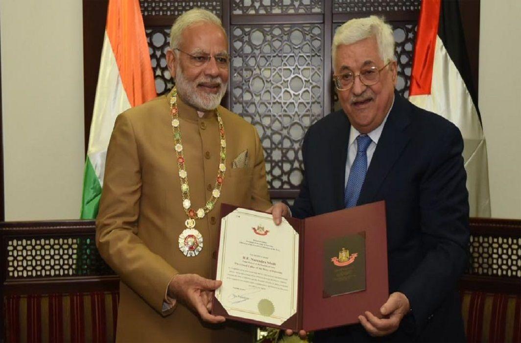 PM Modi arrived in Palestine, Grand collar awarded